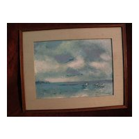 ARIE SMIT (1916-2016) impressionist seascape Indonesian painting dated 1980 Dutch Balinese art
