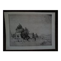 HORACE DEVITT WELSH (1888-1942) American art eastern landscape pencil signed etching
