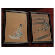 *PAIR* Japanese woodblock prints