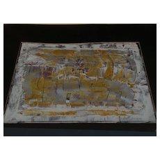California contemporary art mixed media work by MARGARET HEHMAN-SMITH (1948-)