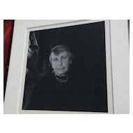 IMOGEN CUNNINGHAM (1883-1976) fine photography pencil signed rare photo of Anna Freud dated 1959