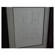 VICTOR BRAUNER (1903-1966) limited edition signed numbered 1962 etching by famous surrealist artist