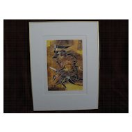 HANS ERNI (1909-2015) pencil signed color print by famous Swiss artist and designer