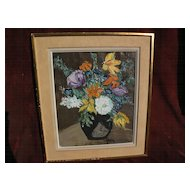 HENRI d'ANTY (1910-1998) colorful still life floral painting by well listed School of Paris painter