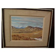JOHN DAVENALL TURNER (1900-1980) Canadian art landscape painting near Cochrane, Alberta by well listed painter