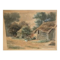 HENDRIK GERRIT TEN CATE (1803-1856) original watercolor painting by well listed Dutch artist