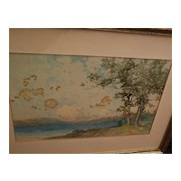 GEORGE HERBERT McCORD (1848-1909) original watercolor landscape painting by noted American artist