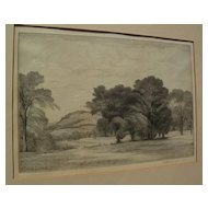 THOMAS NASON (1889-1971) original fine wood engraving pencil signed print dated 1937
