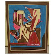 Original abstract signed drawing after important British modern artist DAVID BOMBERG (1890-1957)
