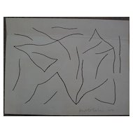 HAROLD COHEN (1928-) modern British art original drawing dated 1971