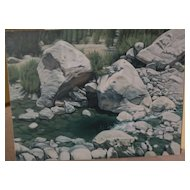 """CHUCK CAPLINGER Southwest art original painting """"Slow Water"""" by acclaimed contemporary California gallery artist"""
