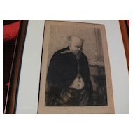 "After ERSKINE NICOL (1825-1904) Scottish art etching ""Worried"" by Leon Richeton 1879"
