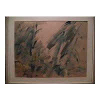 ROBERT M. FREIMARK (1922-2010) original abstract watercolor painting dated 1959