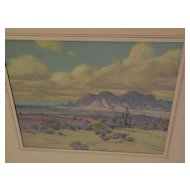 RAYMOND NOTT (1888-1948) California plein air impressionist art desert pastel drawing