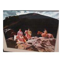 GLEN EDWARDS (1942-) contemporary American Western art original fine watercolor painting