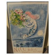 "MARC CHAGALL (1887-1985) original lithograph in colors ""Nice Soleil Fleurs"" 1962 edition of 5000"
