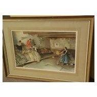 "WILLIAM RUSSELL FLINT (1880-1969) important English 20th century watercolor artist limited edition signed photolithograph print ""Provencale Granary"""