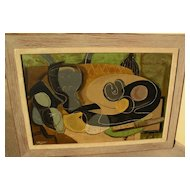 GEORGES BRAQUE (1882-1963) serigraph still life print after early still life painting
