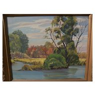 RICHARD V. JOHNSON (1905-2001) California plein air art landscape painting