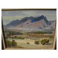 GEORGE BARKER (1882-1965) California plein air art impressionist desert landscape painting