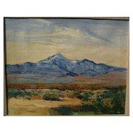 GEORGE BARKER (1882-1965) California plein air art impressionist western mountain landscape painting