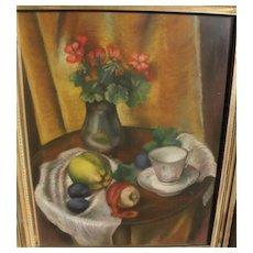 MARION VALE OLDS (1901-1993) California art fine pastel still life painting