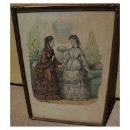 French Victorian fashion print from La Mode Illustree circa 1875
