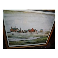 LAWRENCE STEPHEN LOWRY (1887-1976) major naive English artist pencil signed print