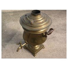 Russian antique brass samovar circa 1900