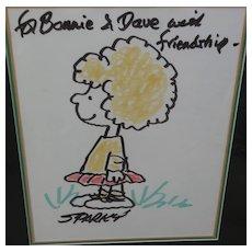 "CHARLES M. SCHULZ (1922-2000) Comic art original drawing of ""Peanuts"" character"