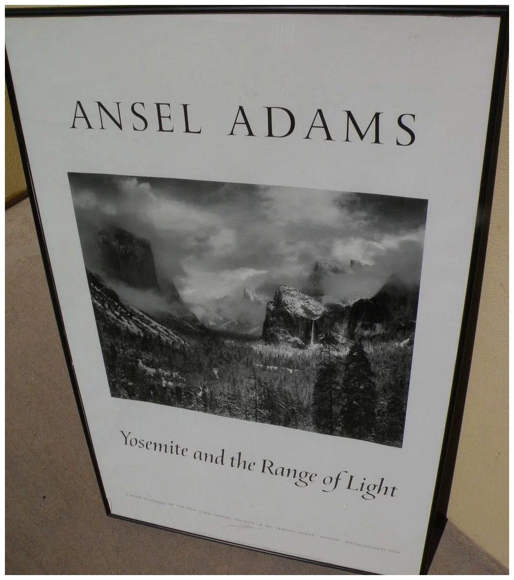 Ansel Adams 1902 1984 Hand Signed Black And White Poster