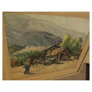 "WILLIAM T. McDERMITT (1884-1961) watercolor landscape ""Mexico 1940"" by well listed California artist"