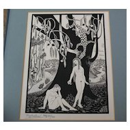 "Print ""The Fall of Man"" after M.C. ESCHER (1898-1972)"
