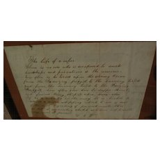 "Americana charming mid 19th century handwritten ""The Life of a Sailor"""