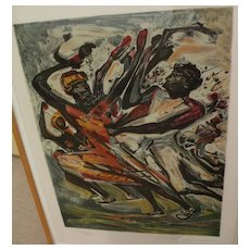 DAVID ALFARO SIQUEIROS (1896-1974) pencil signed limited edition print from The Mexican Suite