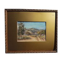 JOSEPH P. FREY (1892-1977) California plein air art watercolor landscape painting
