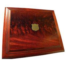 Antique circa 1870's Irish trifles box likely made from flame mahogany
