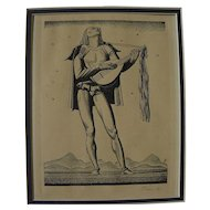 "ROCKWELL KENT (1882-1971) pencil signed lithograph ""Troubadour"" by the noted American artist and illustrator"