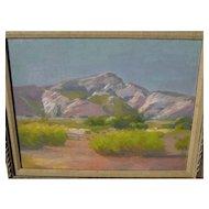 GEORGE BARKER, JR (1882-1965) California plein air art 1926 impressionist desert landscape painting