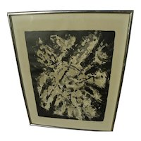 FRANK AVRAY WILSON (1914-2009) rare limited edition lithograph dated 1961 by early English Abstract Expressionist