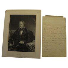 Rare handwritten signed letter by SIR WALTER SCOTT (1771-1832)