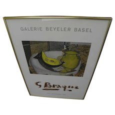GEORGES BRAQUE (1882-1963) Galerie Beyeler Basel Switzerland late 1960's exhibition poster
