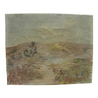California plein air art signed 1930 impressionist painting of the Chino Hills east of Los Angeles