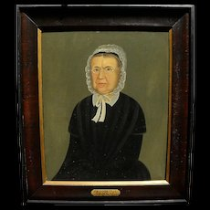 WILLIAM MATTHEW PRIOR (1806-1873) American folk art portrait by famous naive style New England artist