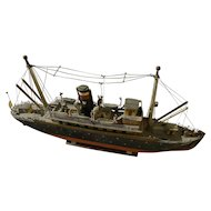 JONATHAN WINTERS (1925-2013) entertainment memorabilia model ship hand made by the well known comedian and artist