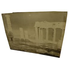 FREDERIC BOISSONNAS (1858-1946) original ink signed photograph of Acropolis in Greece by the noted Swiss photographer