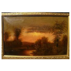 American Hudson River School late 19th century Luminism landscape oil painting