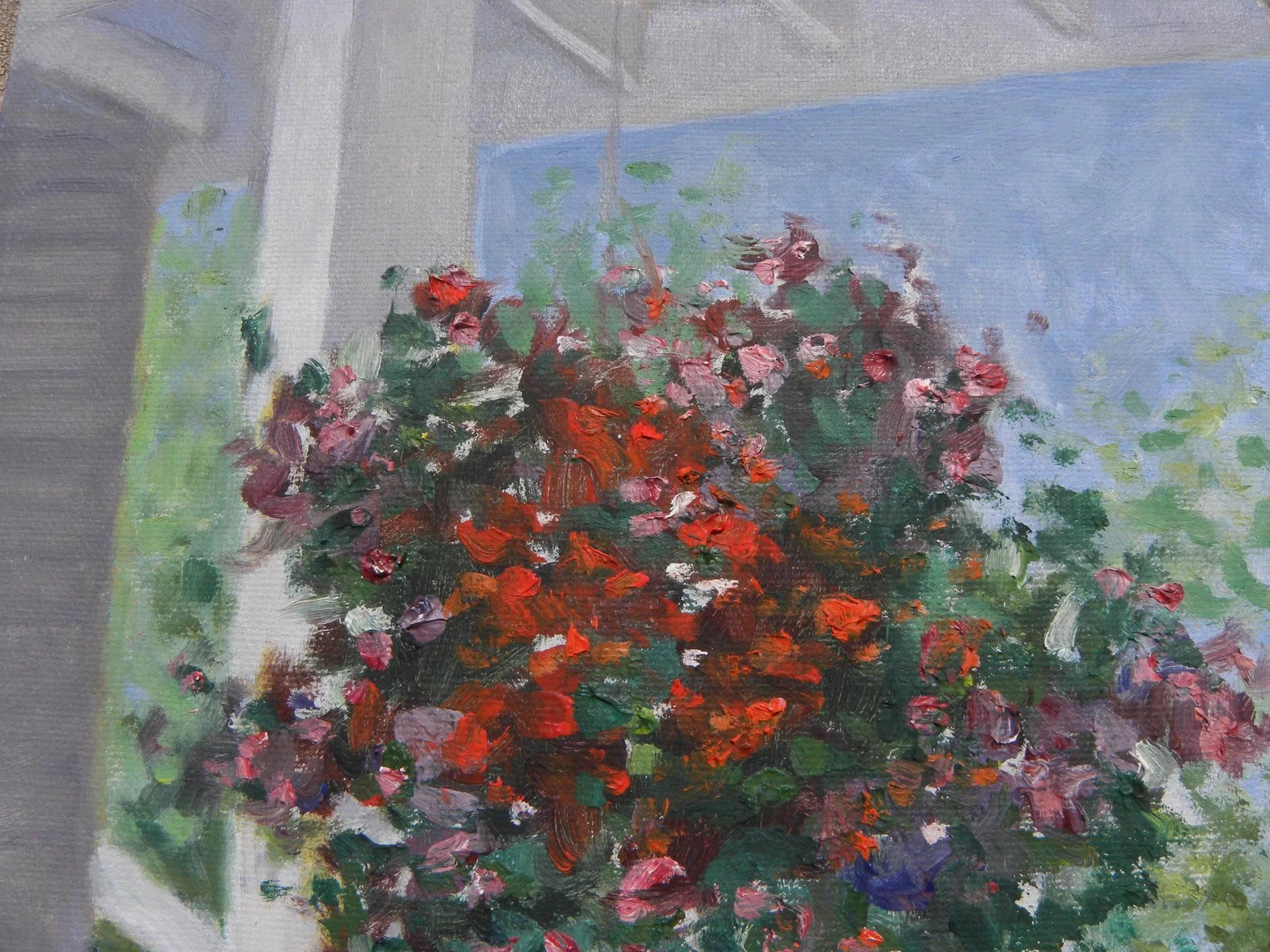 Pair Of Contemporary Impressionist Paintings Of Hanging