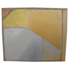 Contemporary modern minimalist abstract painting in acrylics
