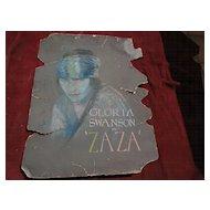 GLORIA SWANSON Hollywood memorabilia 1924 ZAZA painting original pastel